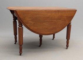 Victorian Walnut Dropleaf Table