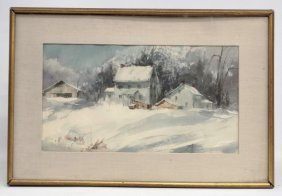 E. Ryan, Snow Scene