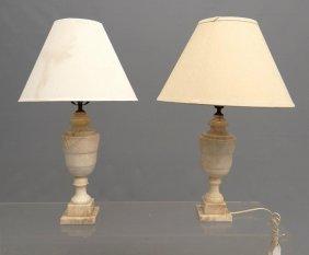 Pair Onyx Lamps