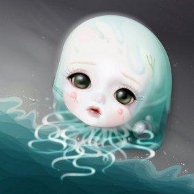 MIJN SCHATJE #2  Baby Mermaid 2009 Digigraphie / C P