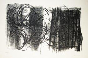 HARTUNG HANS Original Lithograph In Black On Guarro