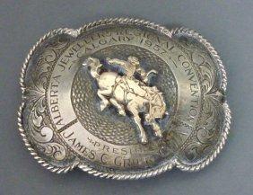 1340 Calgary Stampede Silver Belt Buckle Lot 1340
