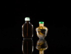 Two Glass Snuff Bottles
