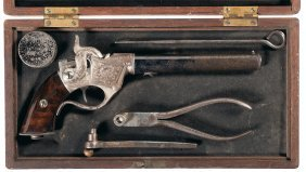 Rare Exhibition Quality Cased Factory Engraved Sh