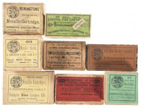 Six Boxes Of Vintage Rifle Ammunition And Two Box