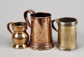 A Victorian Brass Half Pint Tankard, Late 19th Cen