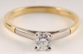 A Diamond Single Stone Ring, Unmarked, The Brillia