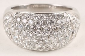 A Diamond Cluster Dress Ring, The White Mount Stam