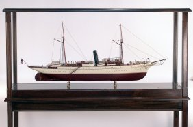 "Model Of The Presidential Steam Yacht ""Mayflower"""