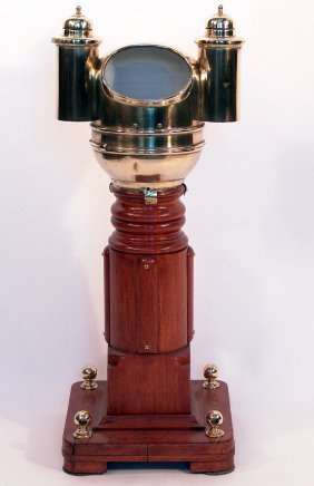 Early 20th Century Yacht Binnacle.