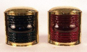 Pair Of Solid Brass Port And Starboard Lanterns.