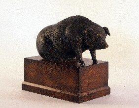 Brass Piggy Bank.