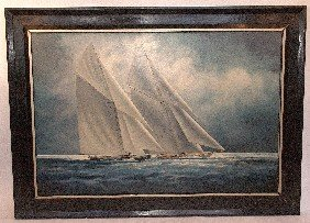 Large America's Cup Painting