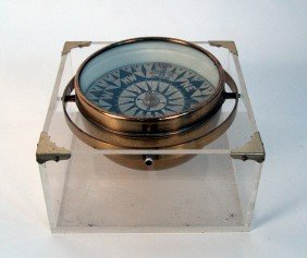 "Early Gimbaled Compass From The Steam Yacht ""Aloh"