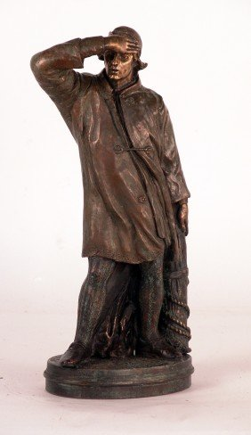 Bronze Of A Fisherman
