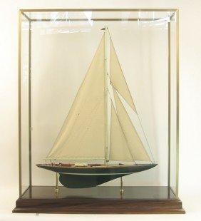 "Model Of America's Cup Yacht ""Shamrock V"""