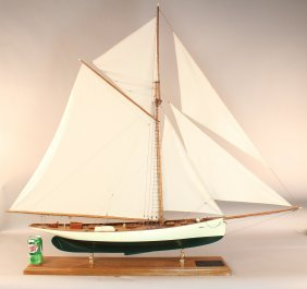 A Scale Model Of The 1895 America�s Cup Yacht �Puritan�
