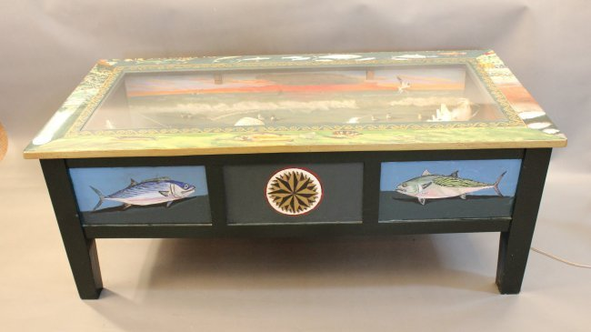 Nautical Coffee Table Illuminates Lot 121