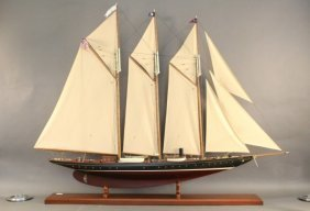 """6-foot Model Of The 1904 Schooner """"atlantic"""""""