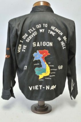 45 Saigon Vietnam 1967 68 End Of Tour Jacket Lot 45