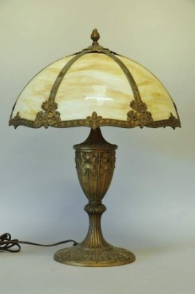 Miller Slag Glass Lamp Dated 1919 Lot 11