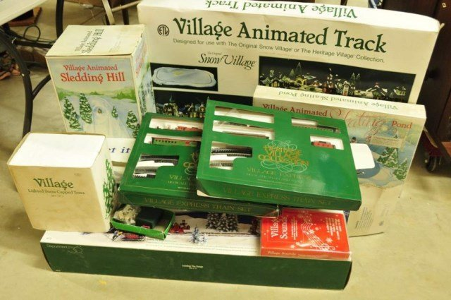 Assorted Dept. 56 Village Animated Accessories : Lot 654  Assorted Dept. ...