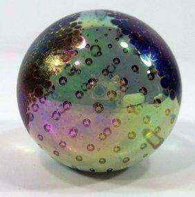 Paperweight -Iridescent Globe