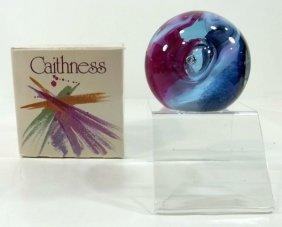 "Paperweight -Caithness ""Neon"""