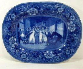 American Flow Blue Platter
