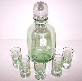 Green Depression Liquor Set