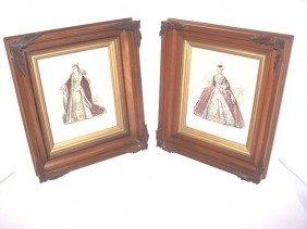 Pair Of Victorian Walnut Frames