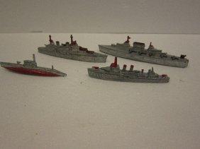 4 Tootsietoy Ship Lot