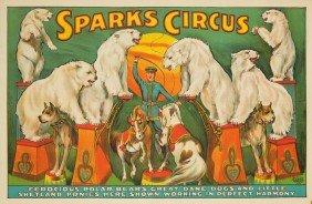 Sparks Circus / Ferocious Polar Bears. Ca. 1924