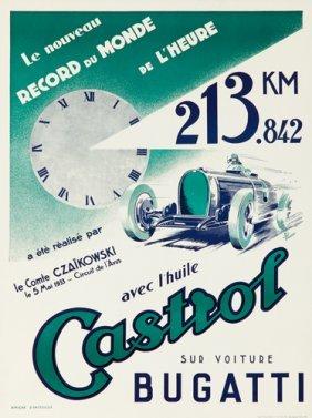 Castrol / Bugatti. 1933