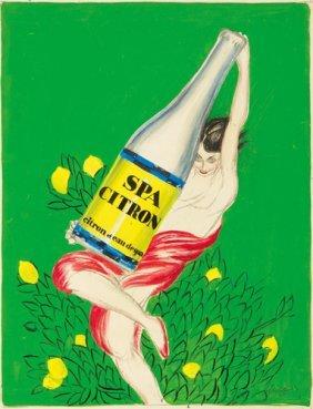 Spa Citron: Maquette. Ca. 1926