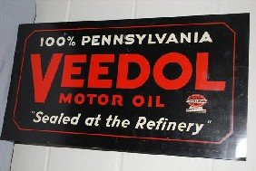 "Veedol Motor Oil ""Sealed At The Refinery"" DST Sign,"