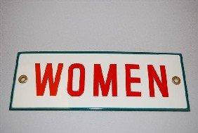 (Associated) Women (restroom) SSP Sign,  2.5x7.75 I