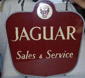 Jaguar Sales & Service With Logo,  2-SSP Diecut Sig