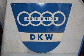 Auto Union DKM SSP Diecut Sign,  32x35 Inches,