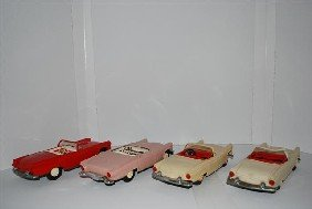 4-1955 Ford Thunderbird Convertibles, Promo Cars,