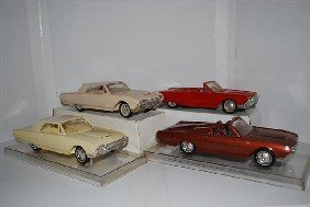 4-1961 Ford Thunderbird Promo Cars, Two Convertib