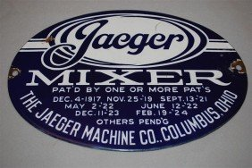 Jaeger Mixer Columbus, Ohio SSP Oval Sign, 8x11 Inc