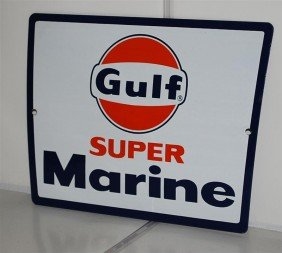 Gulf Super Marine With Logo, SSP Sign, 8.5x11.5 Inch