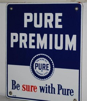 Pure Premium PPP Sign, 12x10 Inches,