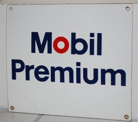 Mobil Premium SSP Sign, 14x16 Inches,