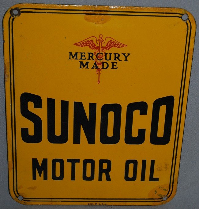 425a sunoco motor oil with mercury made logo touch for How is motor oil made