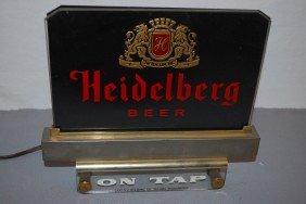 """Heidelberg Beer """"On Tap"""", Rated 9,  Reverse Painted"""