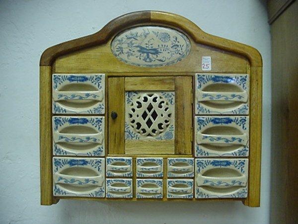 antique german spice cabinet 3