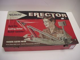 A C Gilbert Rocket Launcher Erector Set: