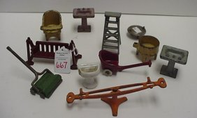 Cast Iron Toy And Doll Furniture: